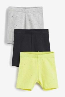 Monochrome 3 Pack Shorts (3mths-7yrs)
