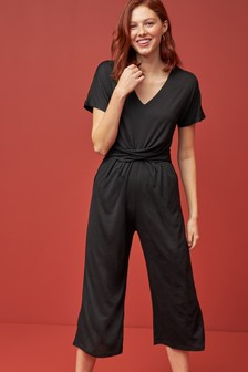 Black Twist Jumpsuit