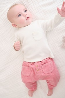 Pink Cord Joggers (0mths-2yrs)