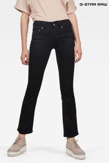 G-Star Black Midge Mid Boot Cut Jeans