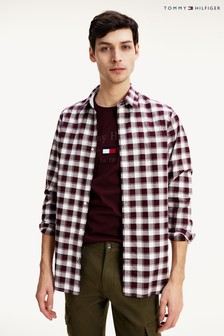 Tommy Hilfiger Red Slim Check Shirt