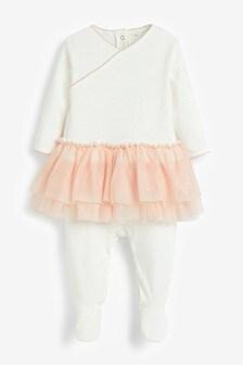 Pink Tutu Sleepsuit (0-2yrs)