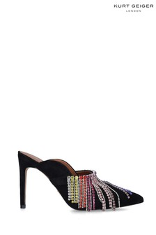 Kurt Geiger London Black Duke Rainbow Shoes