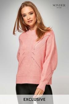 Sonder Studio Pink Cable Knit Jumper