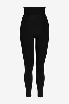 Black Seamfree Firm Control Shaping Leggings