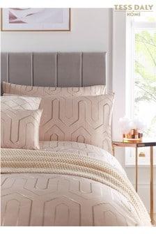 Set of 2 Tess Daly Phoebe Art Deco Sequin Pillowcases