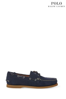 Polo Ralph Lauren Navy Leather Merton Boat Shoes