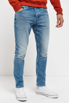 Light Blue Wash Skinny Fit Jeans With Stretch