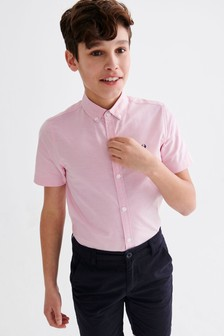 Light Pink Short Sleeve Oxford Shirt (3-16yrs)