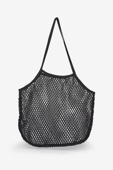 Black String Shopper Bag
