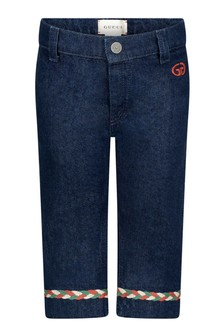 Baby Girls Blue Denim Flared Jeans