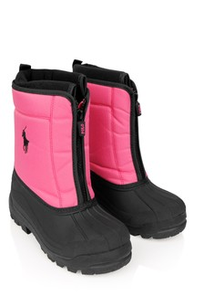 Girls Pink/Black Snow Boots