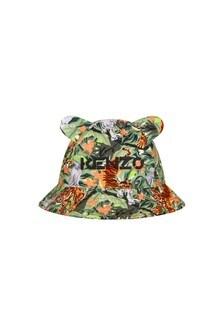 Kenzo Kids Baby Boys Khaki Cotton Hat