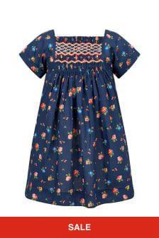 Bonpoint Baby Girls Navy Cotton Dress