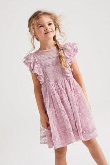 Lilac Lace Dress (3-16yrs)