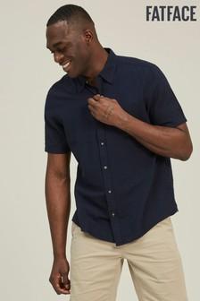 FatFace Blue Bugle Linen Cotton Shirt