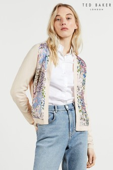 Ted Baker Lilss Woven Front Topairy Cardigan