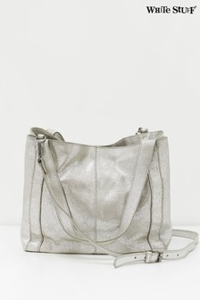 White Stuff Metallic Hannah Leather Tote