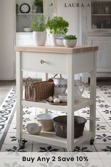Dorset White ButcherS Trolley by Laura Ashley