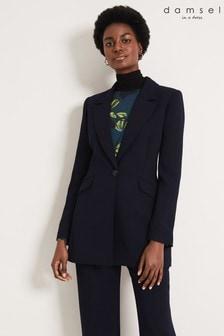 Damsel In A Dress Blue Margot City Suit Jacket