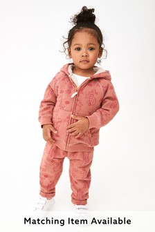 Pink Character Fleece Lined Hoody Soft Touch Jersey (3mths-7yrs)