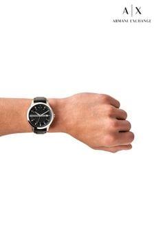 Armarni Exchange Black Leather Watch