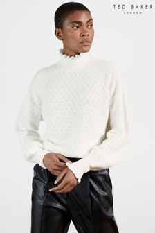 Ted Baker Yolliey Pointelle Mid Gauge Sweater