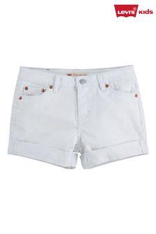Levi's® White Shorty Shorts