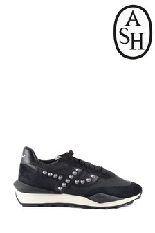 Ash Spider Black Stud Trainers