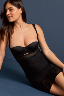 Black  Firm Control Wear Your Own Bra Shaping Slip