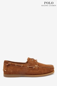 Polo Ralph Lauren Tan Suede Merton Boat Shoes