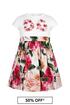 Dolce & Gabbana Girls Pink Cotton Dress