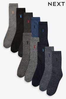 Blue Heavyweight Socks 10 Pack