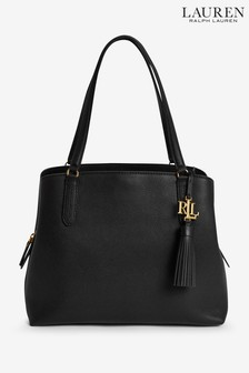 Lauren Ralph Lauren Quinn Leather Tassle Shoulder Bag