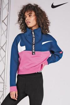 Nike Pro Dri-FIT Get Fit Fleece Sweat Top