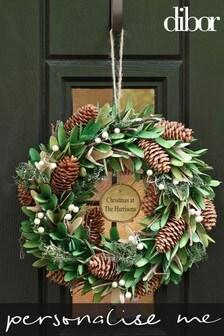 Personalised Mistletoe Kiss Wreath by Dibor