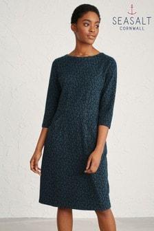 Seasalt Blue Seed Sprig Raven Bonython Dress