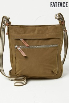 FatFace Khaki Nylon Small Cross Body Bag