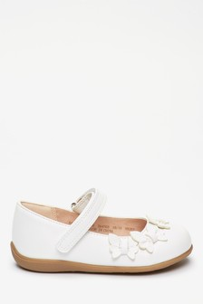 White Butterfly Mary Jane Shoes (Younger)