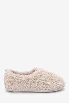 Cream Borg Slippers