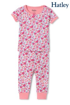 Hatley Pink Summer Garden Organic Cotton Short Sleeve Pyjamas
