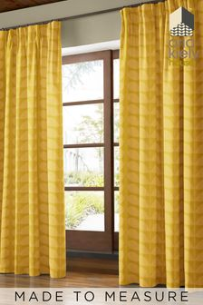 Jacquard Stem Dandelion Yellow Made To Measure Curtains by Orla Kiely