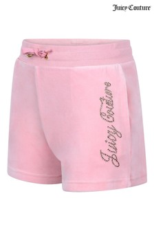 Juicy Couture Luxe Velour Diamanté Shorts
