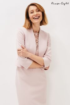 Phase Eight Pink Mariposa Plain Jacket