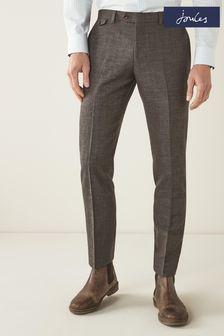 Slim Fit Joules Wool/Linen Suit: Trousers