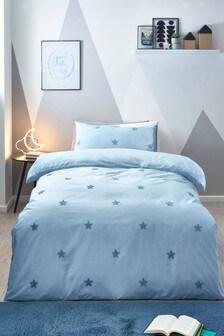 Tufted Star Duvet Cover and Pillowcase Set