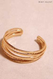 Mint Velvet Gold Stacked Bangle Bracelet