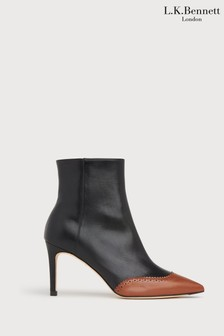 L.K.Bennett Angelica Pointed Brogue Ankle Boots
