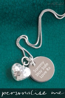 Personalised Puffed Heart Necklace by Oh So Cherished