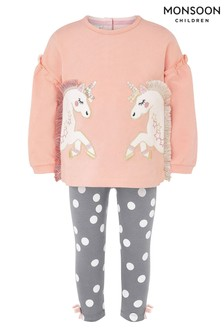 Monsoon Organic Baby Unicorn Top & Legging Set
